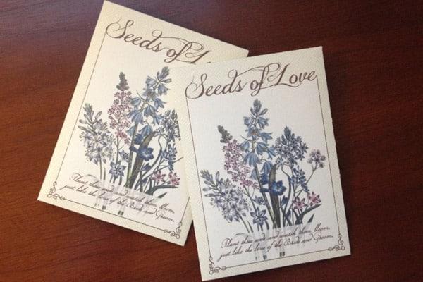 DIY Seed Packet Wedding Favors