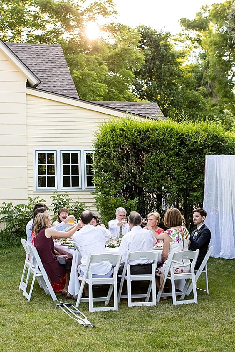 home wedding reception