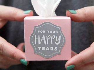 DIY Mini Wedding Tissue Boxes Using Cricut Explore Air