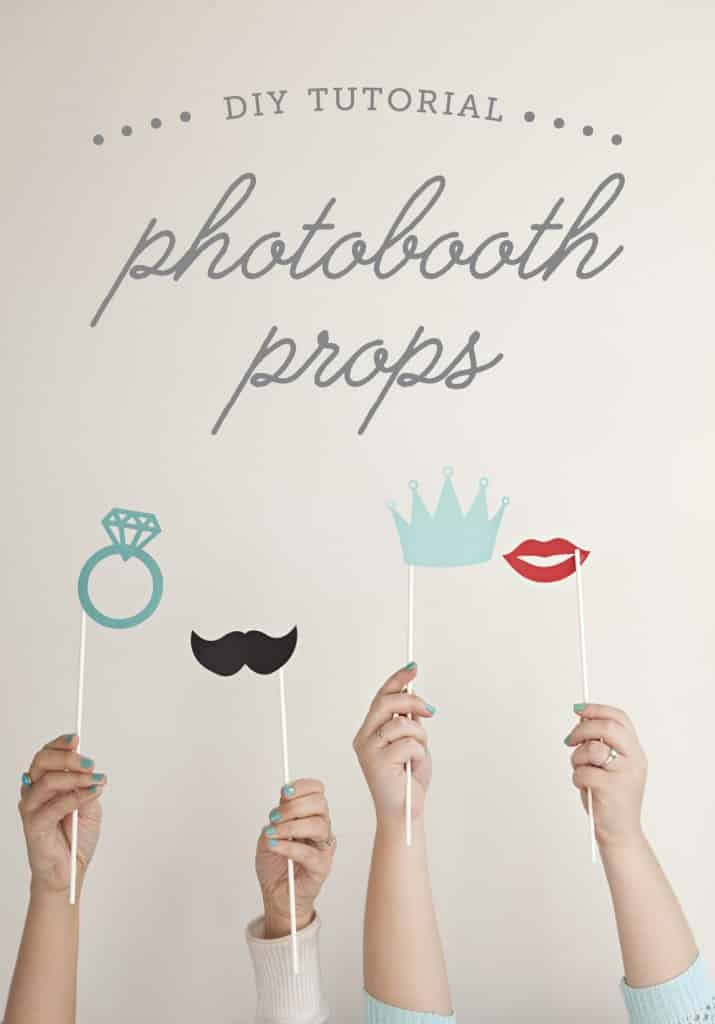 DIY Photobooth Props Made with or without the Cricut Explore Air