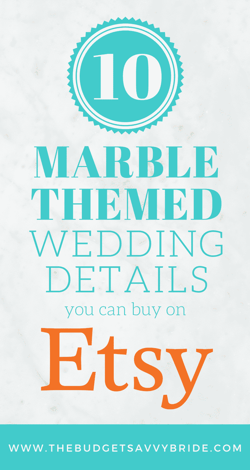 Looking for a beautiful, classy wedding theme? Consider marble! We put together a nice round-up of marble themed wedding details to give you an idea of the look.