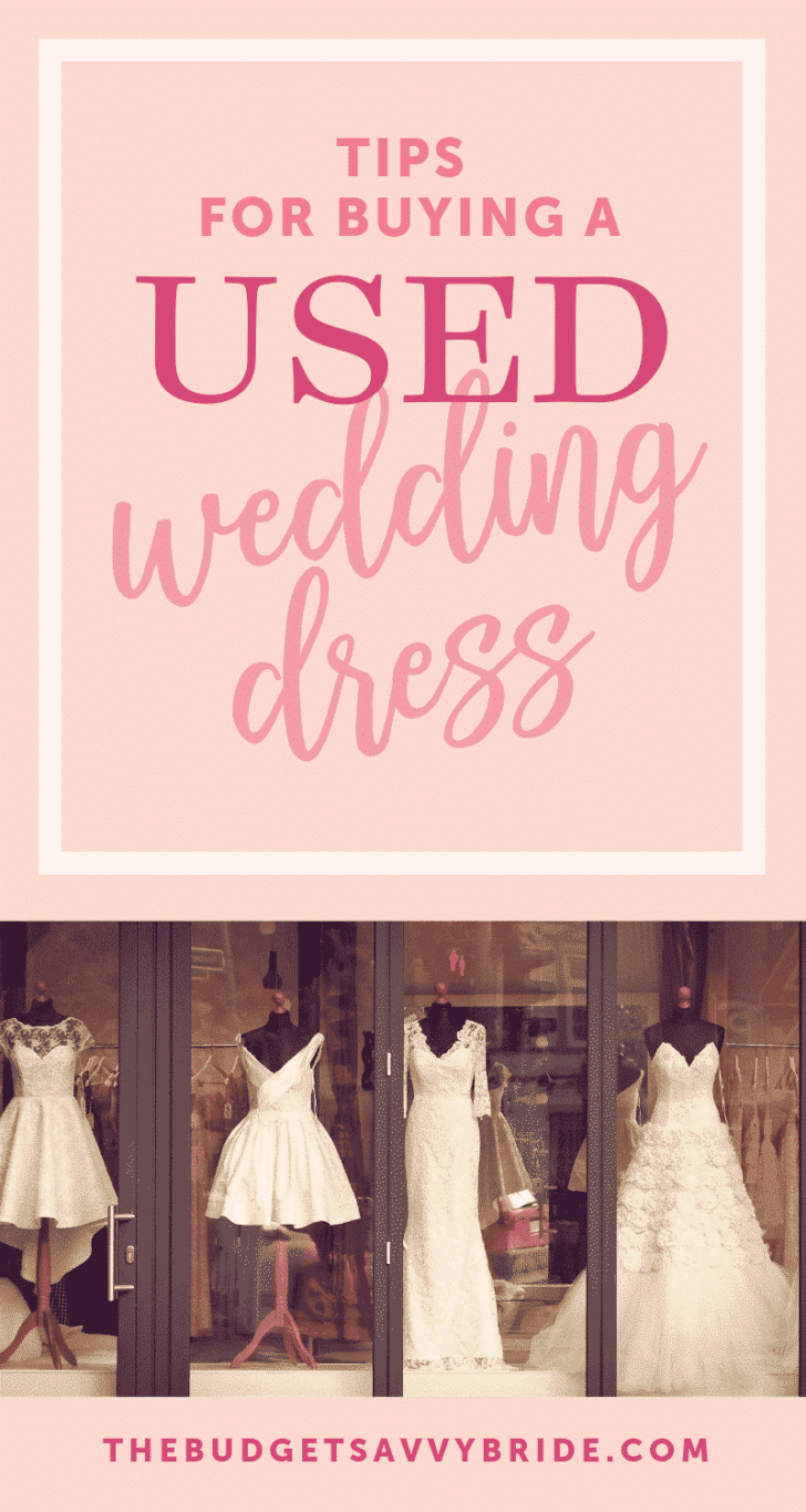 tips for buying a used wedding dress