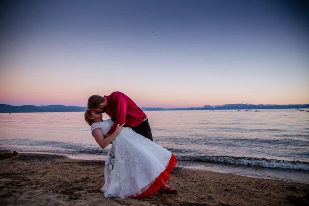 bride and groom, beach wedding