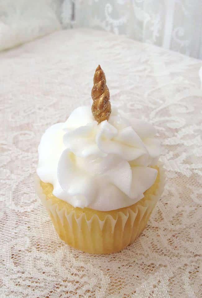 Unicorn Horn Cupcake Topper by NamecakesbySonia