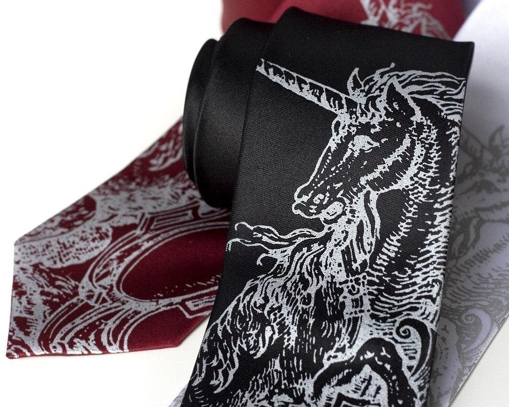 Unicorn Print Tie by Cyberoptix