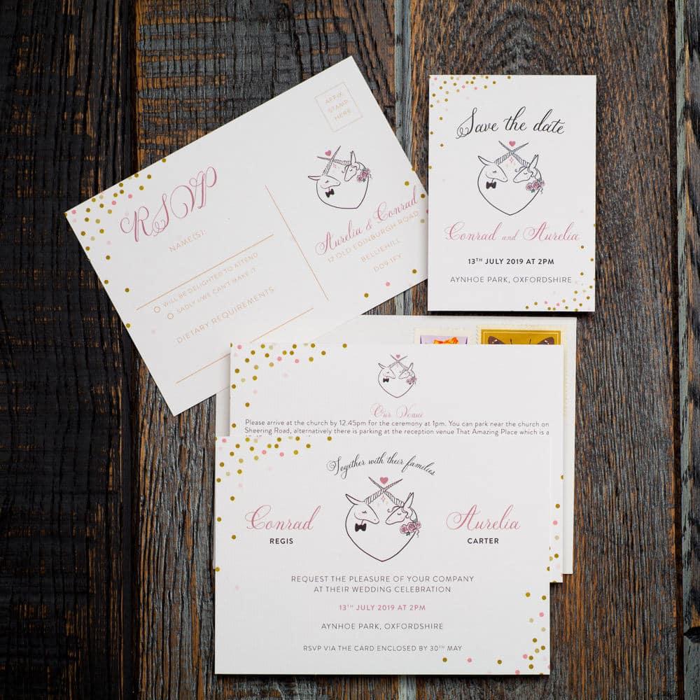 Unicorn Wedding Suite by Theinvitepress