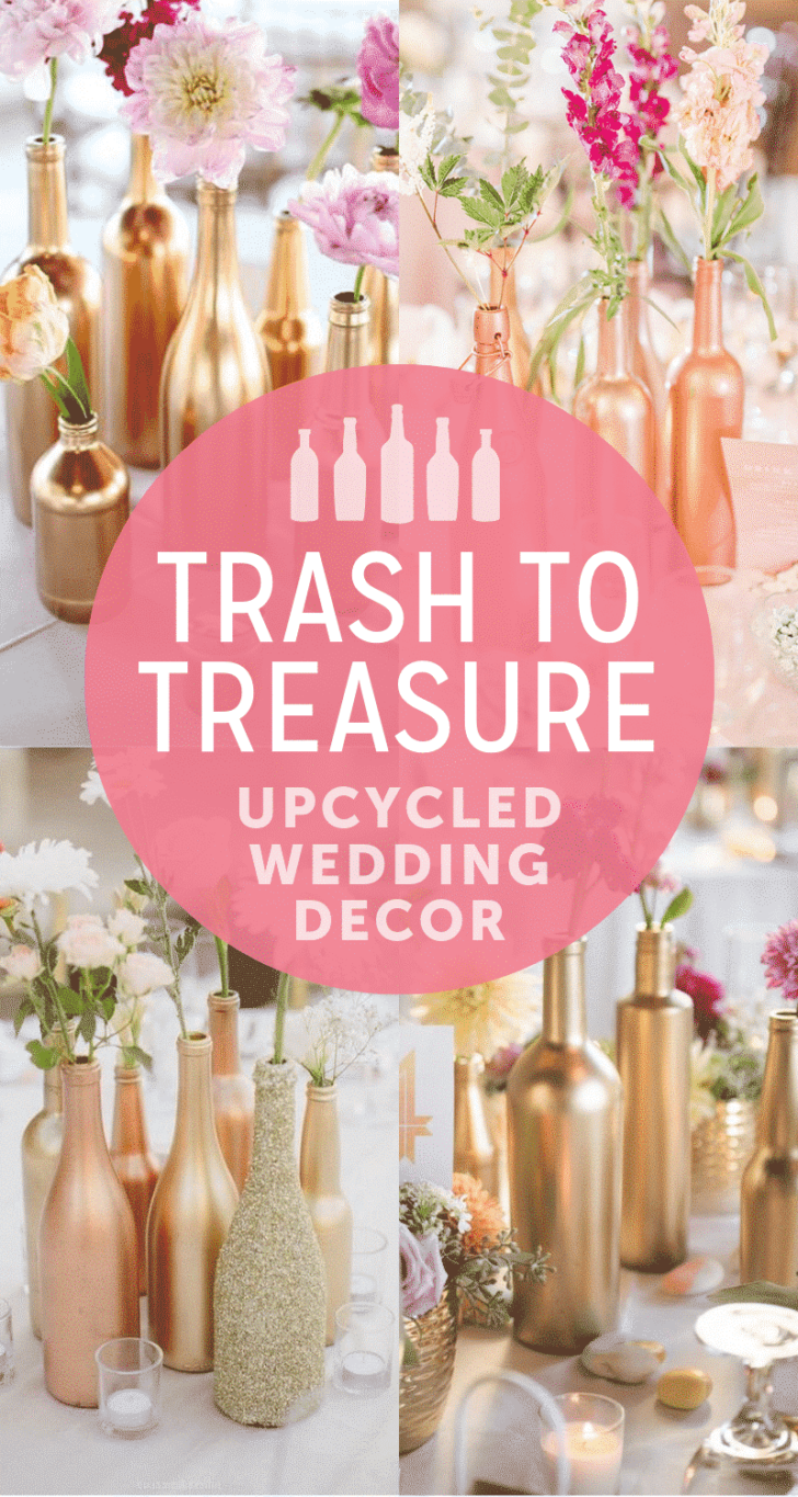 upcycled wedding decor ideas
