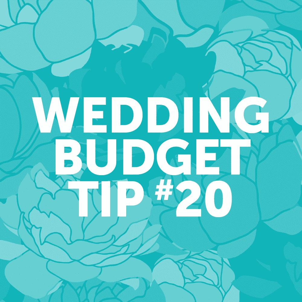 Wedding Budget Tip #20: Serve a signature cocktail instead of an open bar