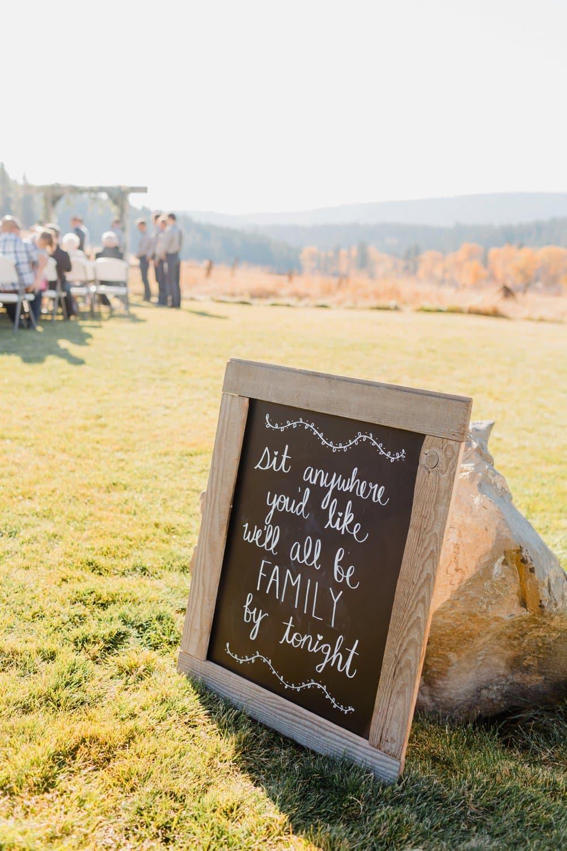 diy wedding signs, chalkboard wedding signs