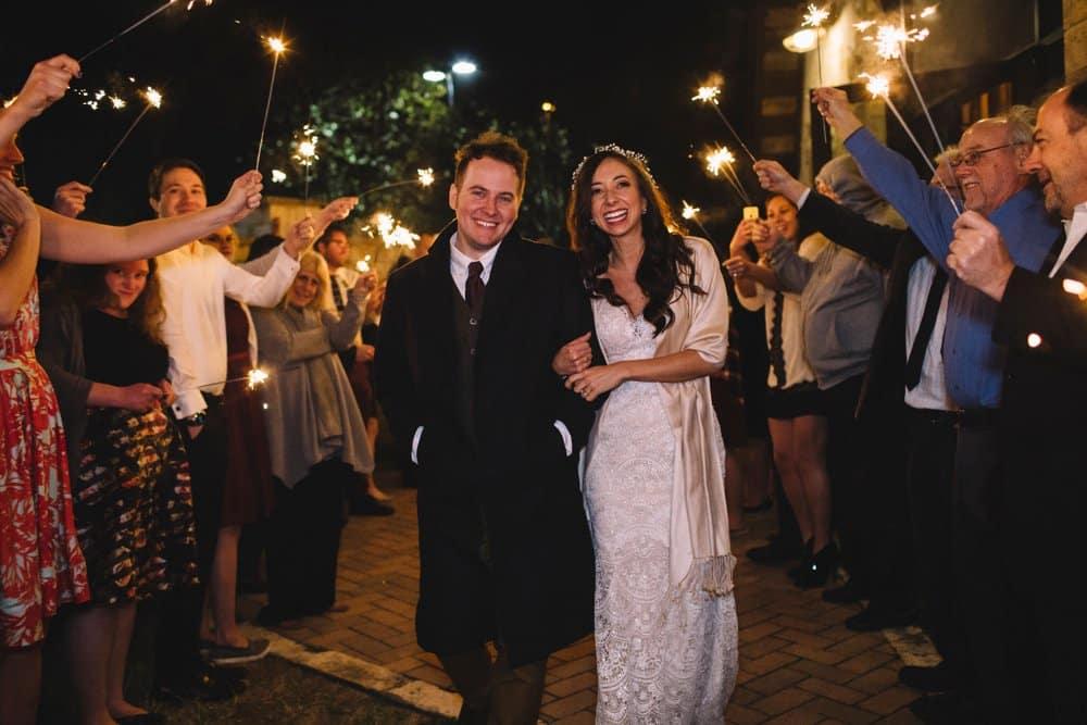 wedding exit, sparkler exit