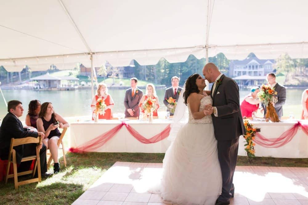 bride and groom, reception photos