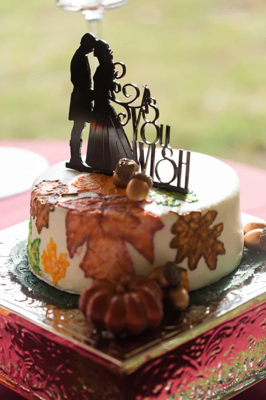 wedding cake, cake topper, fall wedding