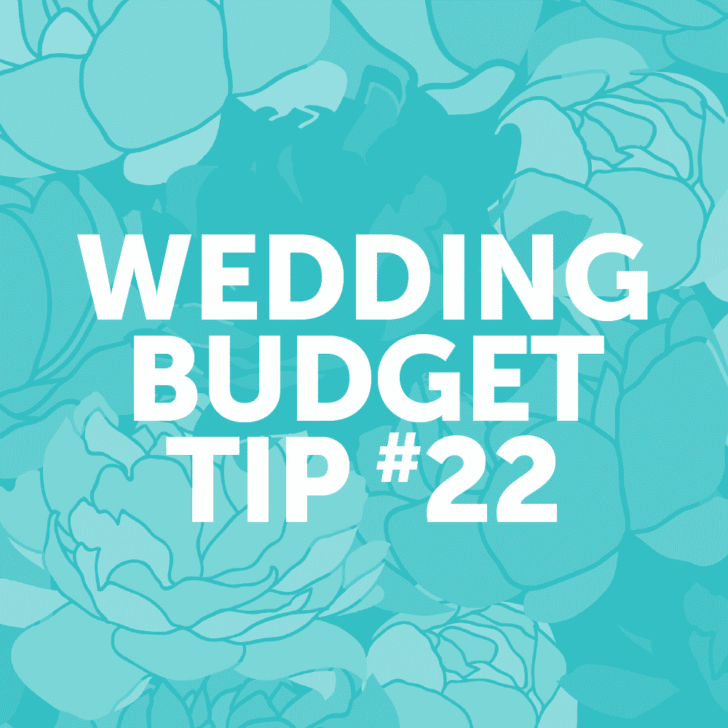 Wedding Budget Tip #22: Skip the favors, or just make something simple and edible.