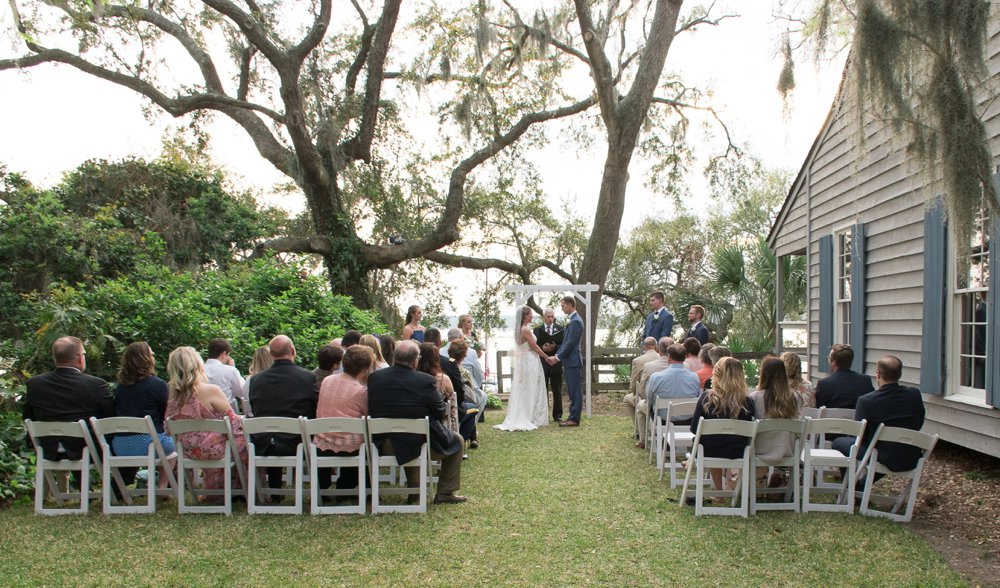 charming cottage wedding ceremony