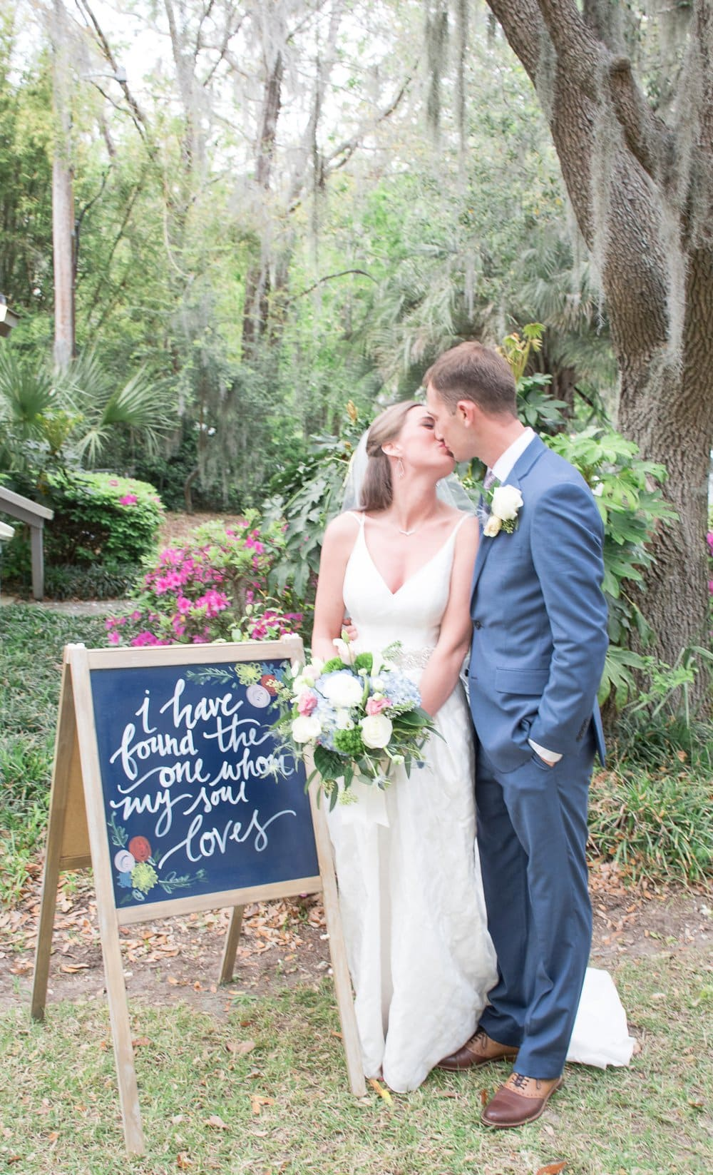 charming cottage wedding bride and groom