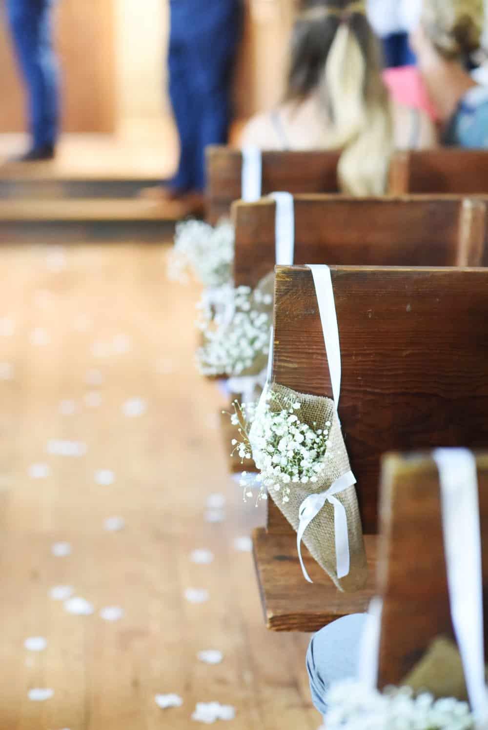 DIY wedding aisle decor