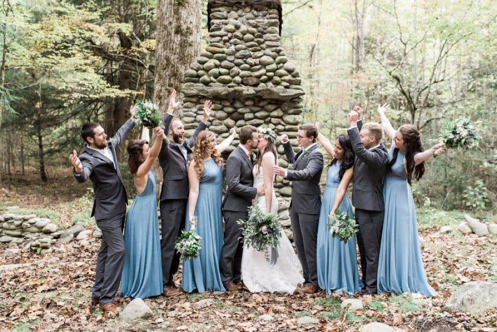 bridal party, wedding photos, bridesmaid style