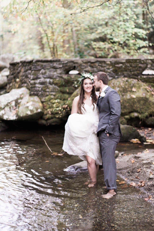 bride and groom, outdoor wedding