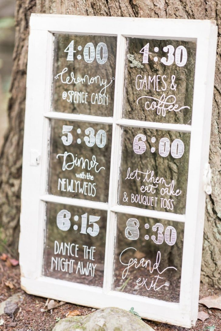 Wedding Day Timeline Signage