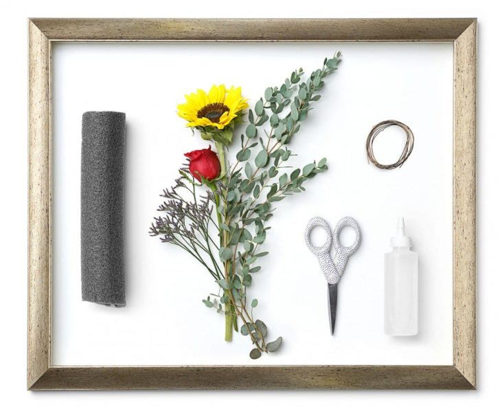 floral photo frame materials