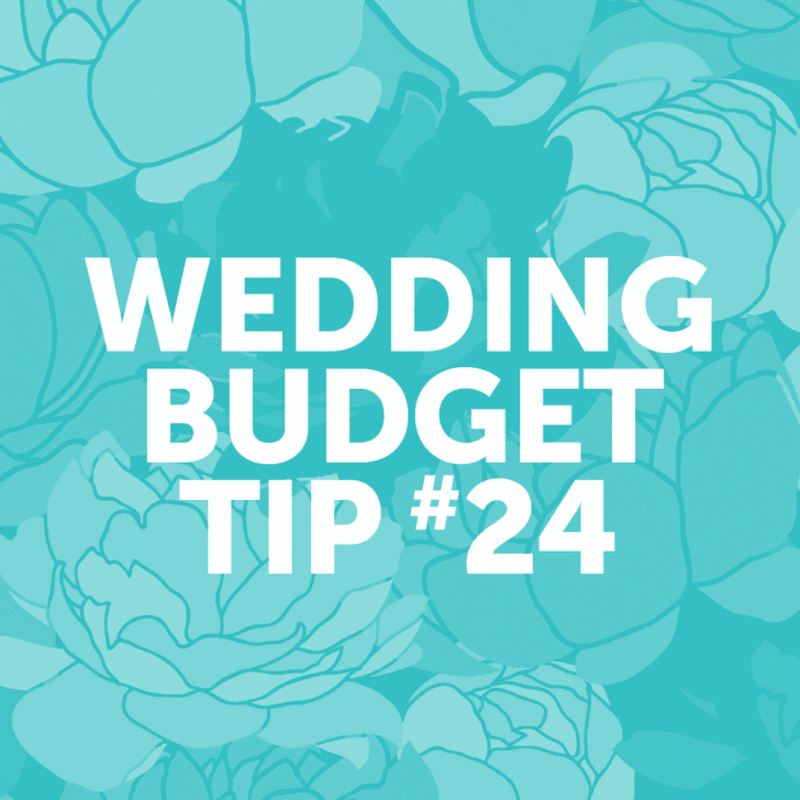 Wedding Budget Tip #24: Serve only wine and beer to cut costs on the bar.