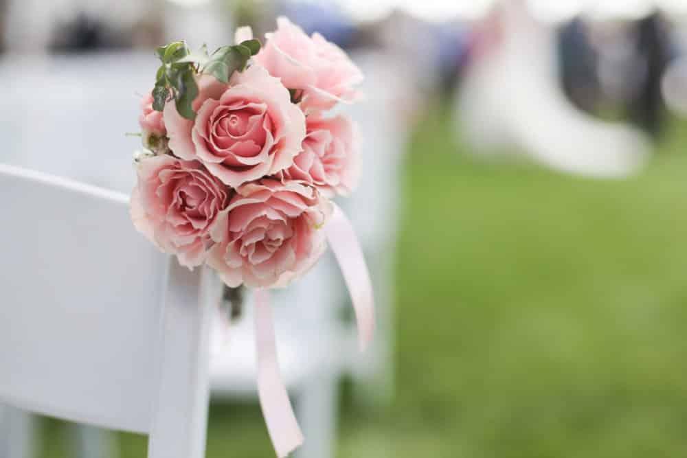 wedding decor, florals, pink flowers
