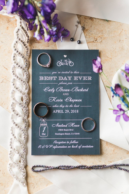 wedding invitation and details