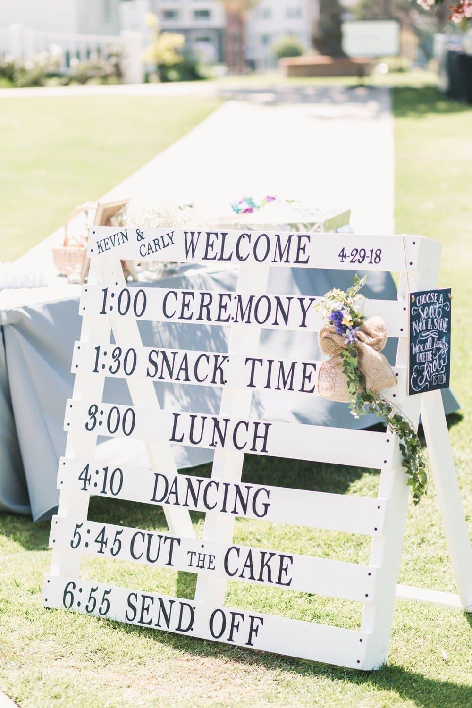 CA Rustic Spring Wedding, wedding signs