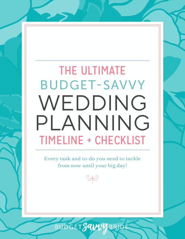 Budget Savvy Wedding Planning Timeline and Checklist