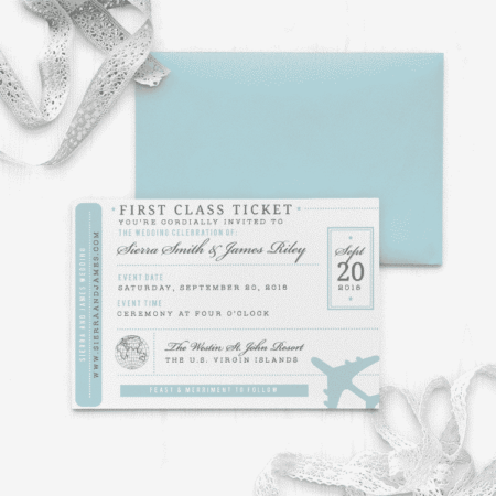 Bon Voyage Wedding Invitation