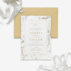 Cool Marble Foil Wedding Invitations