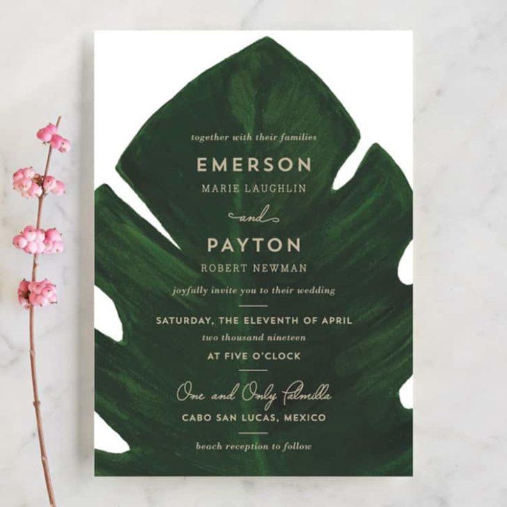 Palm Wedding Invitations