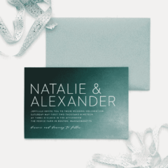 Modern Ombre Wedding Invitations