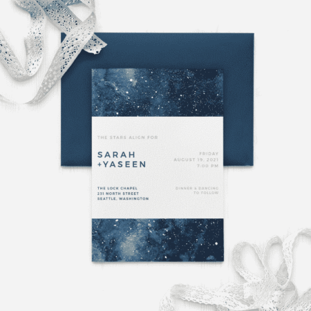 Starry Galaxy Wedding Invitations