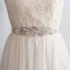 Bridal Belt with Rhinestone Embellishment