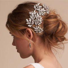 Handmade Crystal Opal Rhinestone Hair Vine Pin