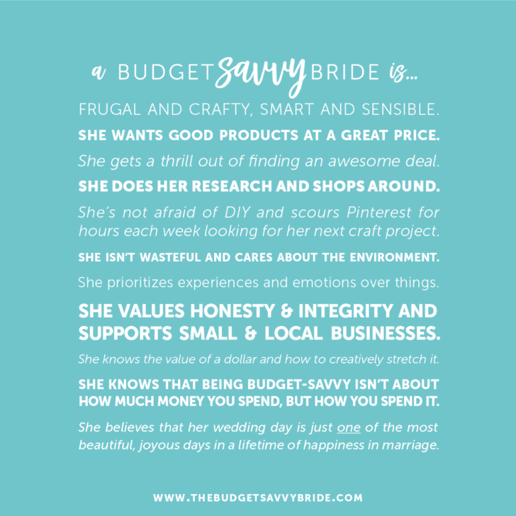 What is a budget savvy bride? Definition of budget savvy.