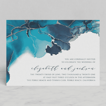 Modern Tide Pools Wedding Invitations