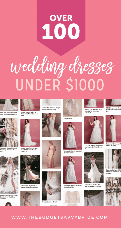 100 wedding dresses under $1000
