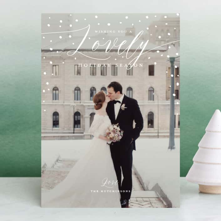 Minted Newlywed Holiday Cards