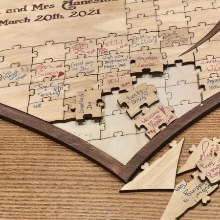 Wooden Puzzle Guest Book
