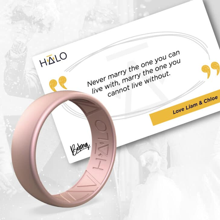 Silicone Wedding Rings from Halo