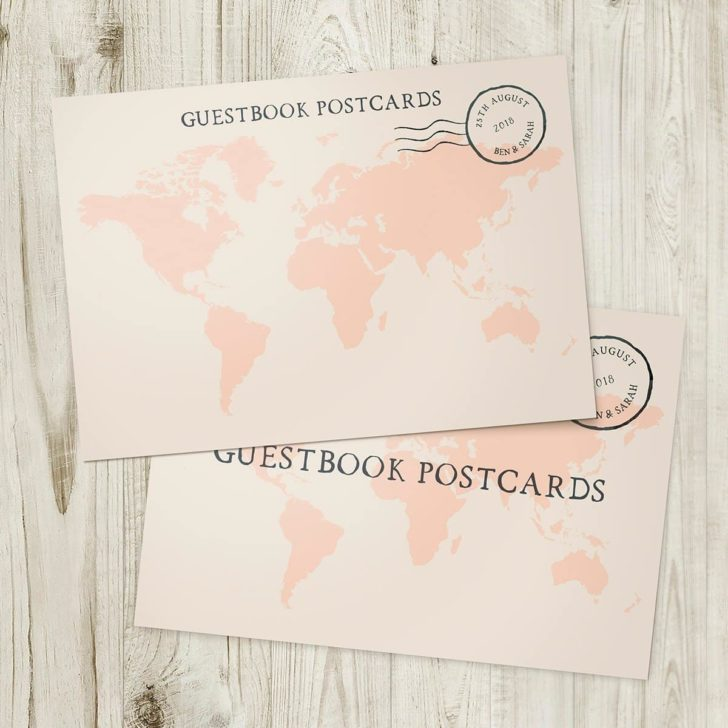 guest book postcards