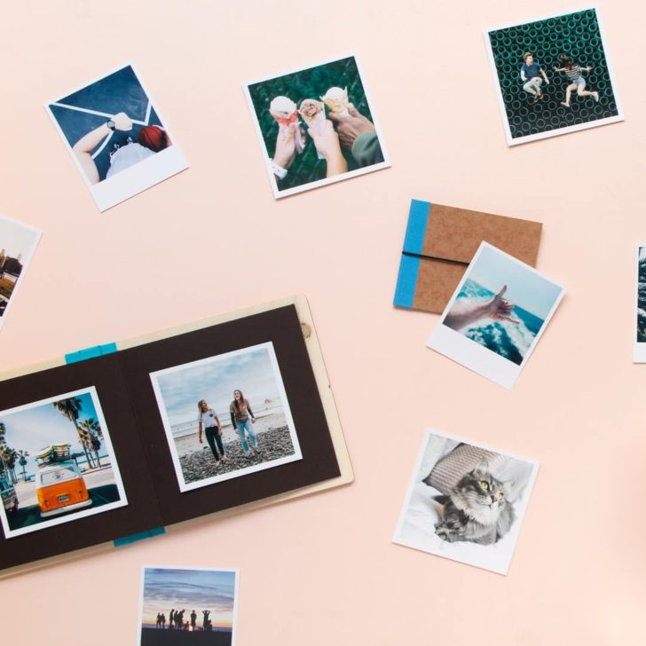 squared retro photo instagram prints - turn your wedding photos into gifts!