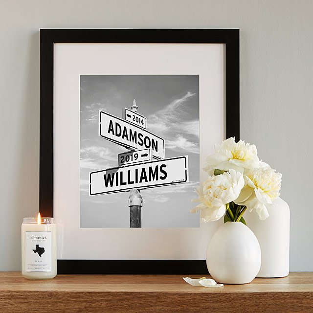 street sign- - personalized gifts for couples
