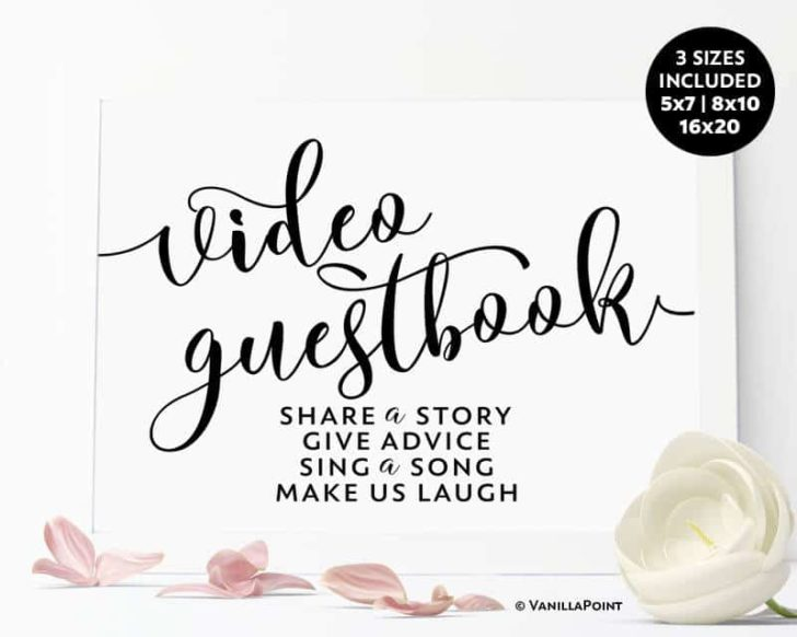 video guest book sign