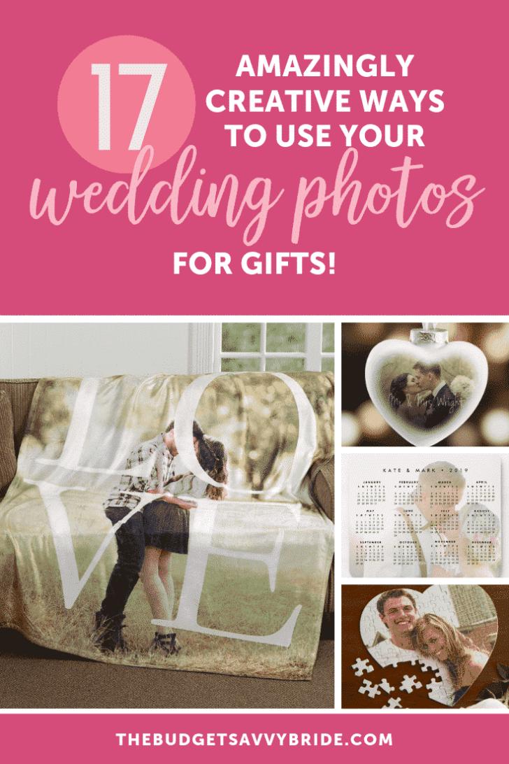 wedding photos for gifts - custom photo gift ideas