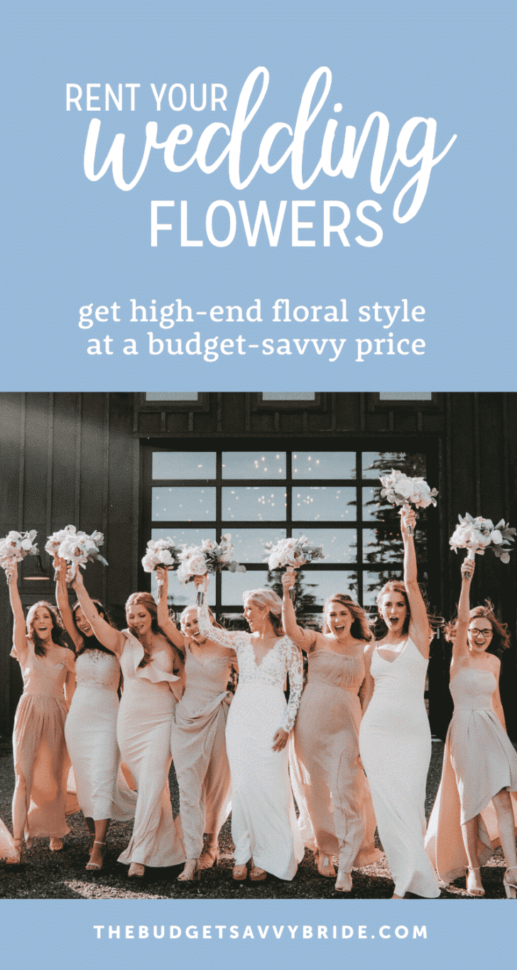 rent your wedding flowers