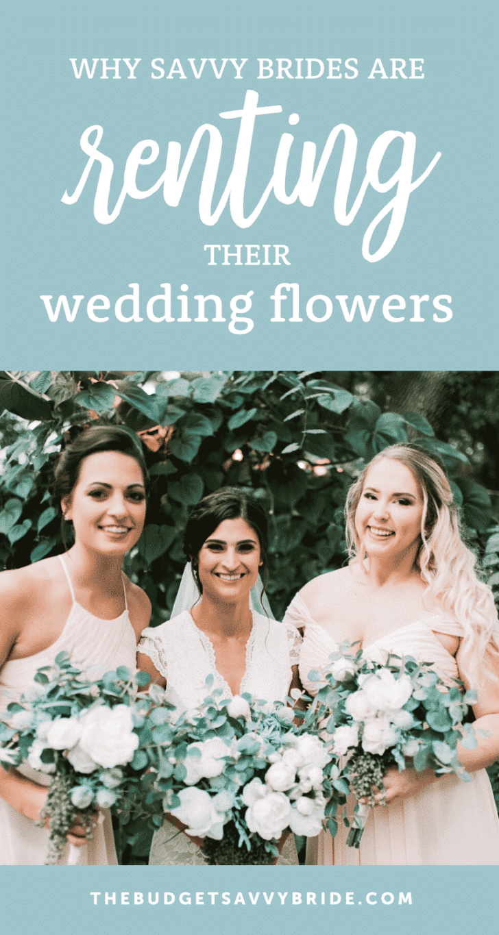 renting your wedding flowers