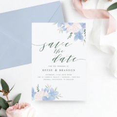 Printable Floral Save the Date Design by MyCrayonsDesign on Etsy